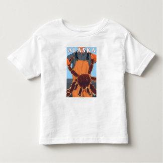 King Crab and Fisherman Vintage Travel Poster Toddler T-Shirt