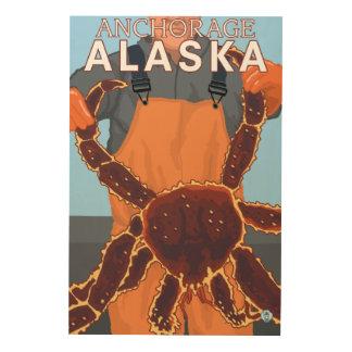 King Crab Fisherman - Anchorage, Alaska Wood Print