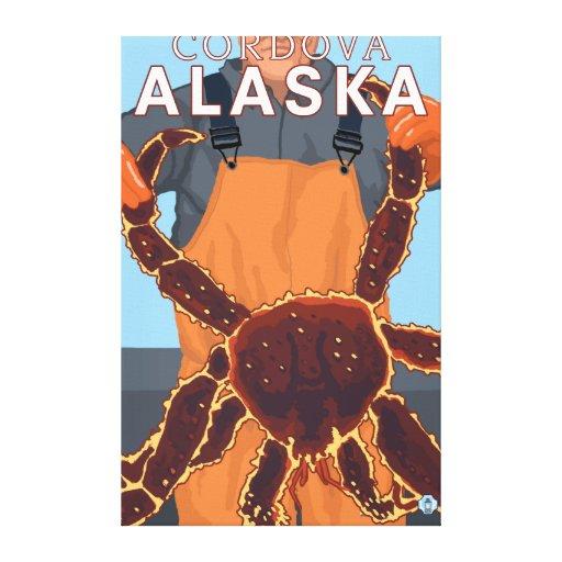 King Crab Fisherman - Cordova, Alaska Canvas Prints