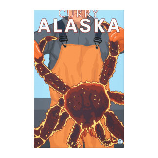 King Crab Fisherman - Curry, Alaska Gallery Wrapped Canvas