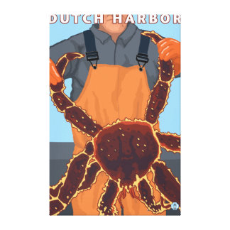 King Crab Fisherman - Dutch Harbor, Alaska Canvas Print