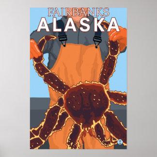 King Crab Fisherman - Fairbanks, Alaska Poster