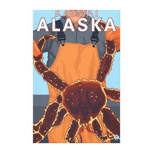King Crab Fisherman - Katmai, Alaska Stretched Canvas Print