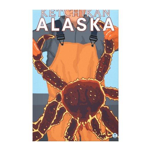 King Crab Fisherman - Ketchikan, Alaska Canvas Print