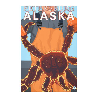King Crab Fisherman - Petersburg, Alaska Canvas Print