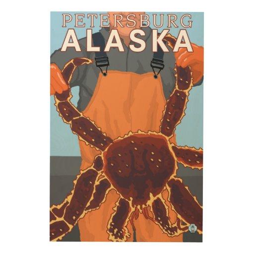 King Crab Fisherman - Petersburg, Alaska Wood Canvases