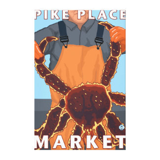 King Crab Fisherman - Pike Place Market, Seattle Canvas Print