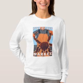 King Crab Fisherman - Pike Place Market, Seattle T-Shirt