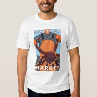King Crab Fisherman - Pike Place Market, Seattle Tee Shirt