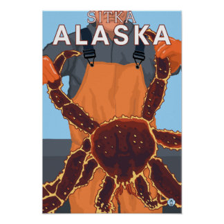 King Crab Fisherman - Sitka, Alaska Print