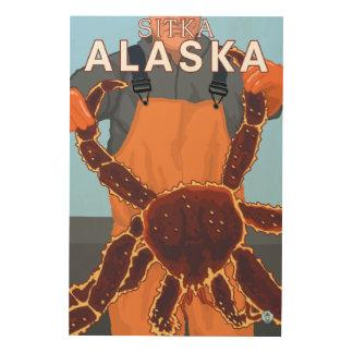 King Crab Fisherman - Sitka, Alaska Wood Print