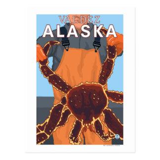 King Crab Fisherman - Valdez, Alaska Postcard