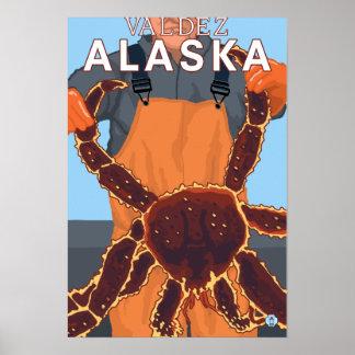 King Crab Fisherman - Valdez, Alaska Poster