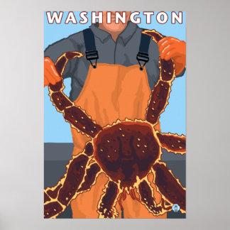 King Crab Fisherman - Washington Poster