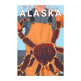 King Crab Fisherman - Wrangell, Alaska Gallery Wrapped Canvas