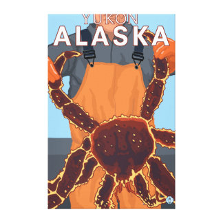 King Crab Fisherman - Yukon, Alaska Canvas Print