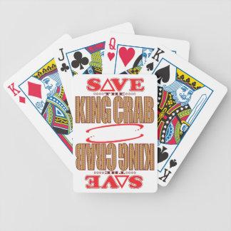 King Crab Save Bicycle Playing Cards