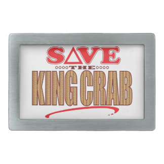 King Crab Save Rectangular Belt Buckle
