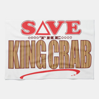 King Crab Save Tea Towel