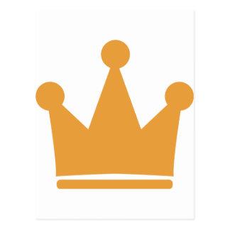 king crown postcard