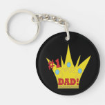King Dad 1.png Round Acrylic Key Chain