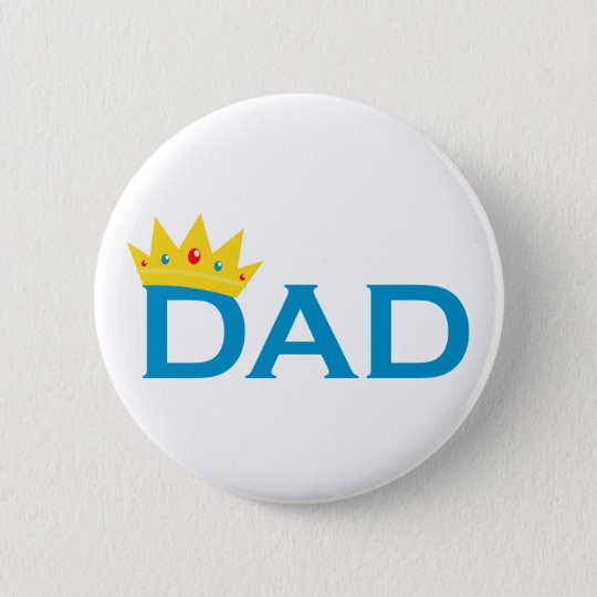 King Dad 6 Cm Round Badge