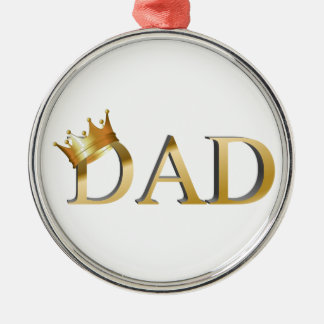 King Dad Christmas Ornament