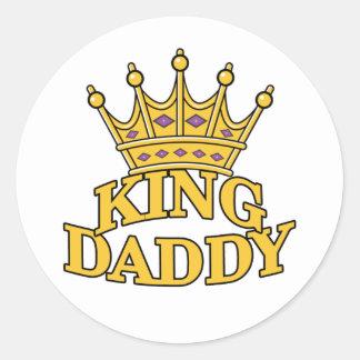 King Daddy Round Sticker