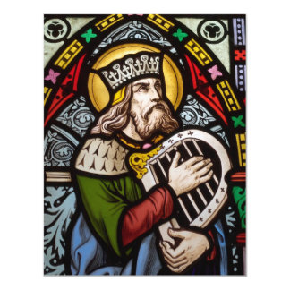 King David 4.25x5.5 Paper Invitation Card