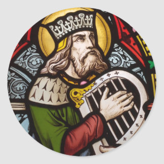King David Classic Round Sticker