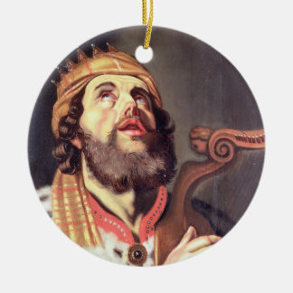 King David (panel) Christmas Ornament