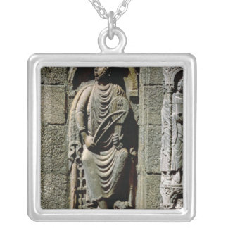 King David Silver Plated Necklace