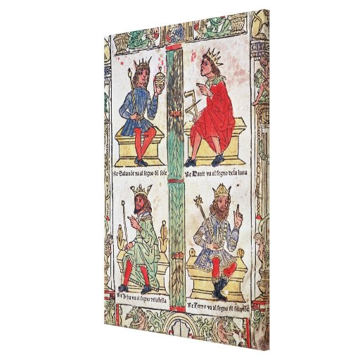 King David, Solomon, Luba and Turnis Stretched Canvas Prints