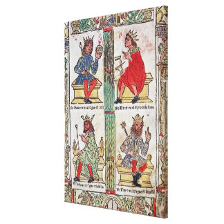 King David Solomon Luba and Turnis Stretched Canvas Prints