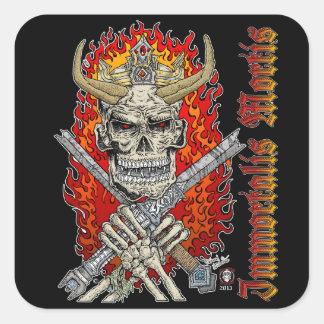 King Devil skull sticker