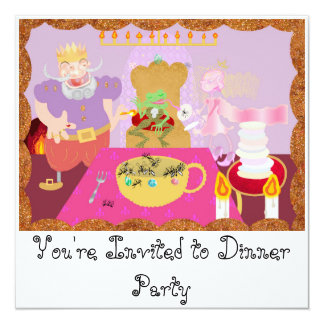 king dinner 13 cm x 13 cm square invitation card