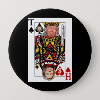 King Donald vs Queen Hillary 10 Cm Round Badge