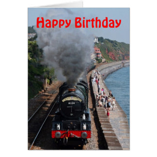 King Edward 1 Steam Engine Happy Birthday Card