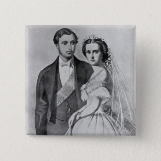 King Edward and Queen Alexandra 15 Cm Square Badge
