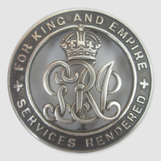 king & empire sticker. for ya rendered service classic round sticker