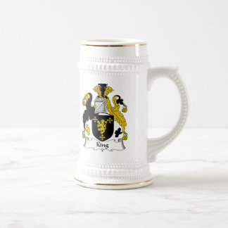 King Family Crest Beer Steins