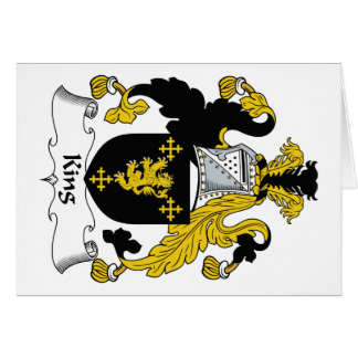 King Family Crest Greeting Card
