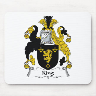 King Family Crest Mouse Pad