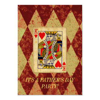 King Father's Day Invitation