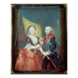 King Frederick II and his wife Poster