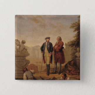 King Frederick II of Prussia 15 Cm Square Badge