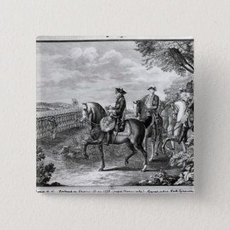 King Frederick II of Prussia  reviewing the 15 Cm Square Badge