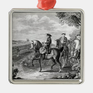 King Frederick II of Prussia  reviewing the Christmas Ornament