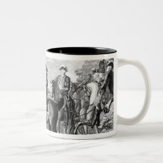 King Frederick II of Prussia  reviewing the Two-Tone Coffee Mug