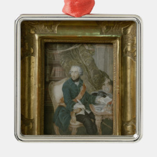 King Frederick II of Prussia Silver-Colored Square Decoration